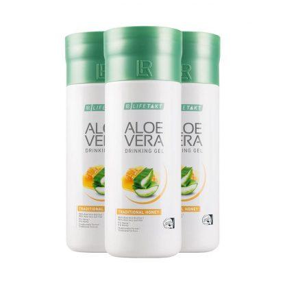 Aloë Vera Drinking Gel Traditioneel met Honing set