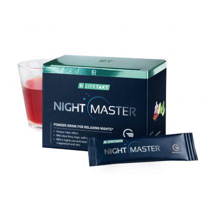 Night Master van LR LIFETAKT - de nieuwe slaapdrank - is een natuurlijke manier om bij regelmatig gebruik een langdurige, rustgevende slaap te garanderen. Het unieke TRIPLE EFFECT1,2,3 ondersteunt het eigen slaapritme van het lichaam.